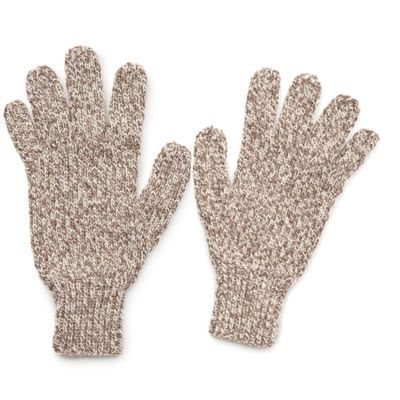 knit men's gloves from The Knitting Book