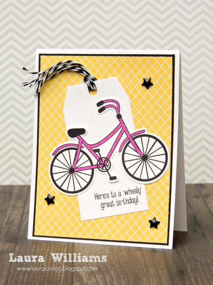 Wheely Great! - bike2stamp {The Stamps of Life}
