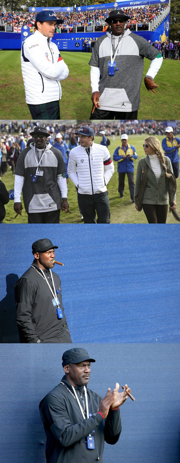 Michael Jordan at the Ryder Cup in Scotland.
