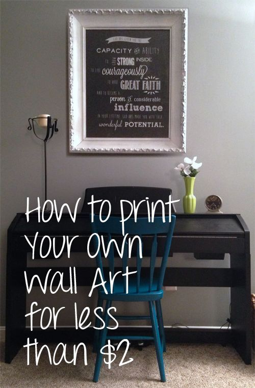 How To Print Your Own Wall Art for Less Than $2 - perfect for a ...