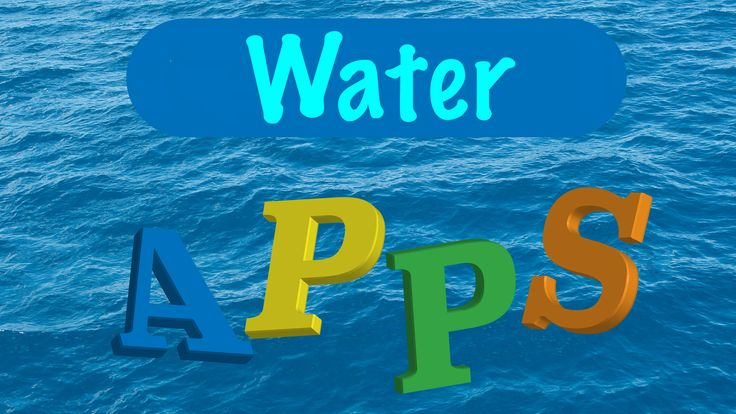 Apps voor het thema water in de kleuterklas