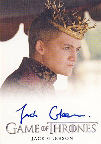 2014 Game of Thrones Season 3 Autograph Card Jack Gleeson as King Joffrey Baratheon @ niftywarehouse.com #NiftyWarehouse #GameOfThrones #Fantasy #TVShows #HBO #Show