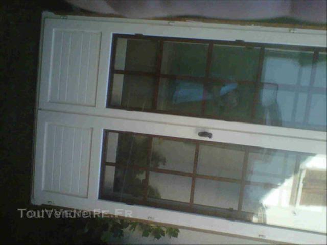 Porte fenêtre bois exotique double vitrage 2