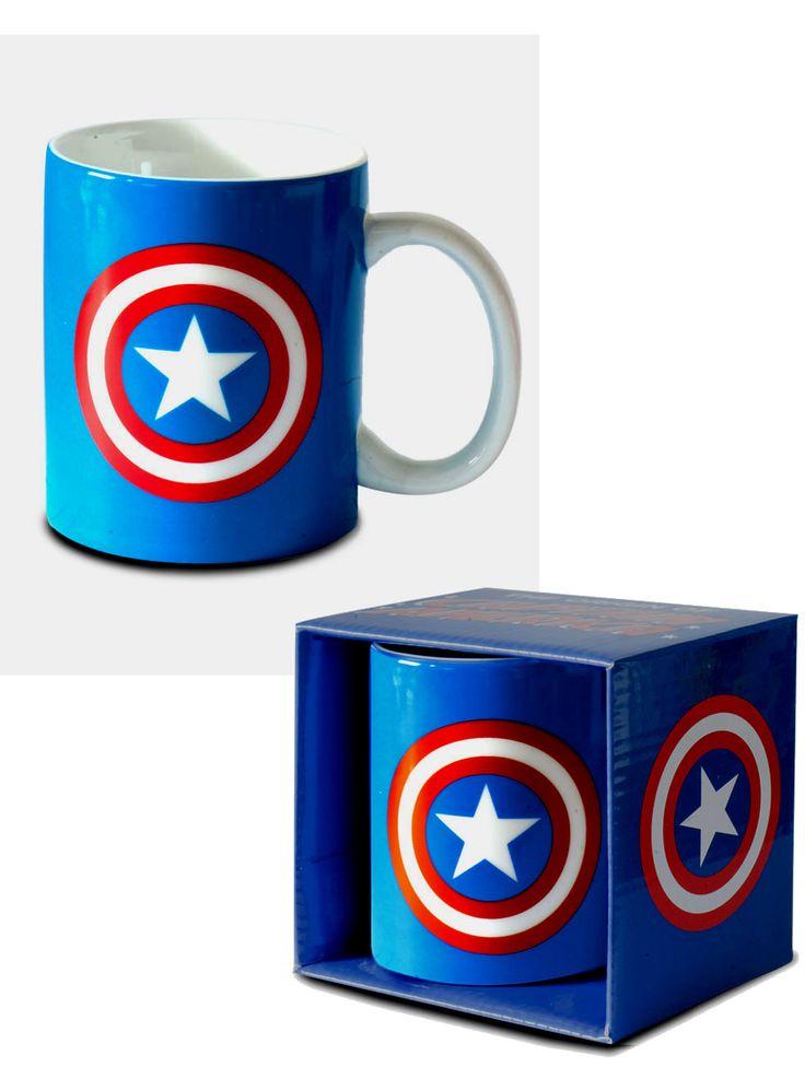 mug captain america bleu logo bouclier cuisinemugs tasses logostore