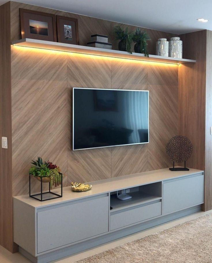 41 Modern And Minimalist Tv Wall Living Room Decor Ideas