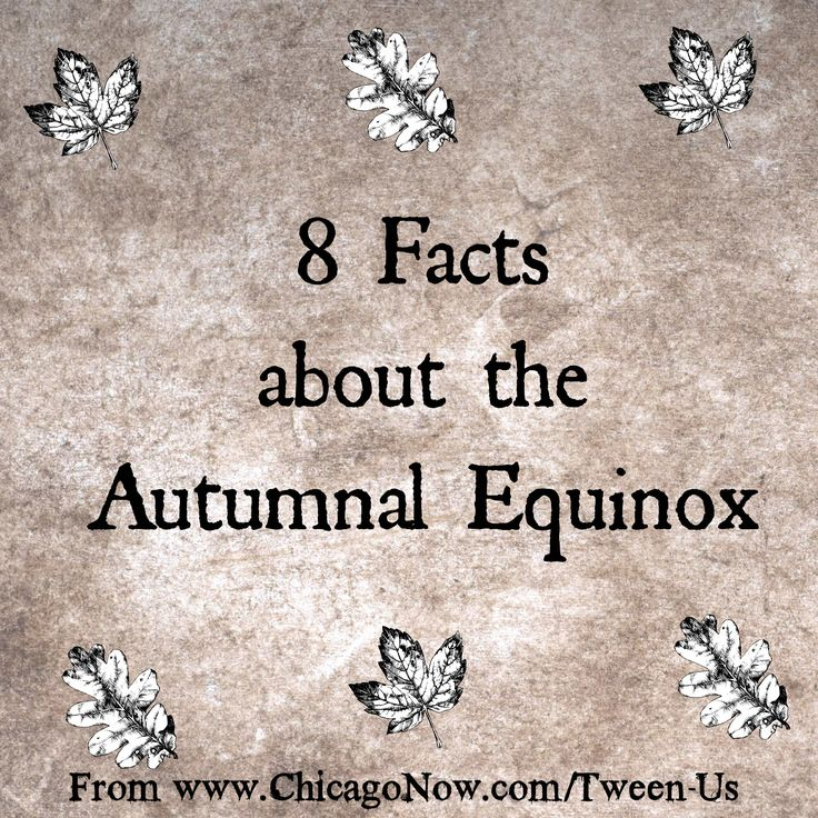 "UPDATE: In 2015, the autumnal equinox is on September 23 in the Northern Hemisphere. The examine moment is 8:21 UTC, or 3:21 a.m. here in Chicago, which is located in the Central Time Zone. This post was written in 2013 and the date and time is for that year. In 2016, the autumnal equinox will... <a href=""http://www.chicagonow.com/between-us-parents/2013/09/autumnal-equinox/"" class=""more-link"">Read more »<..."