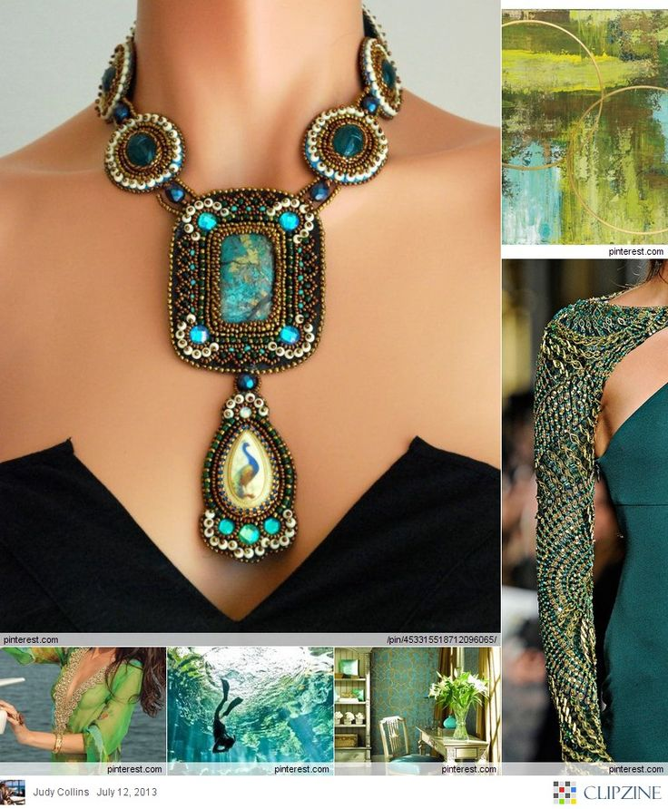 love the necklace   Lime + Teal