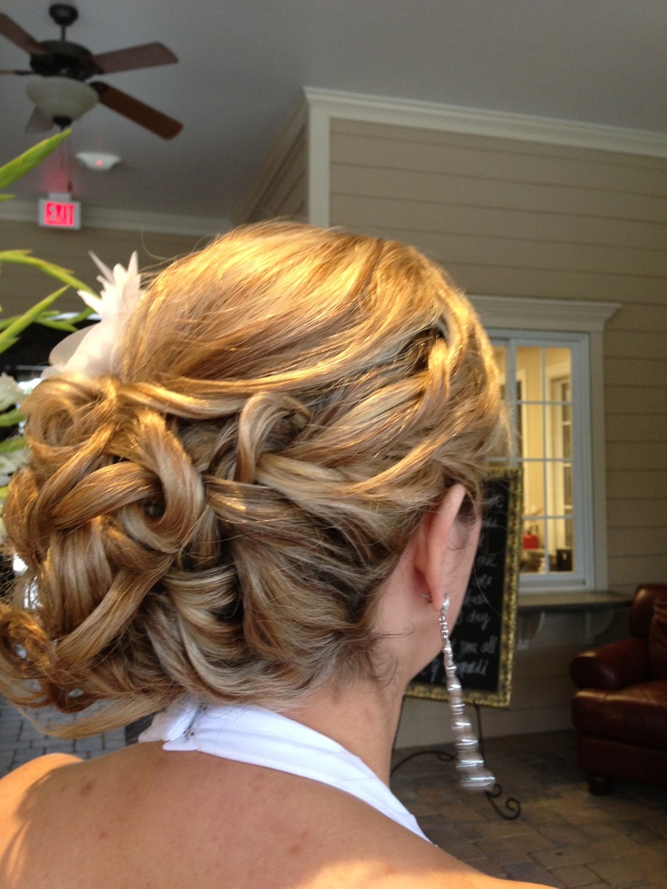 Love this one!!!! Braid and side bun.