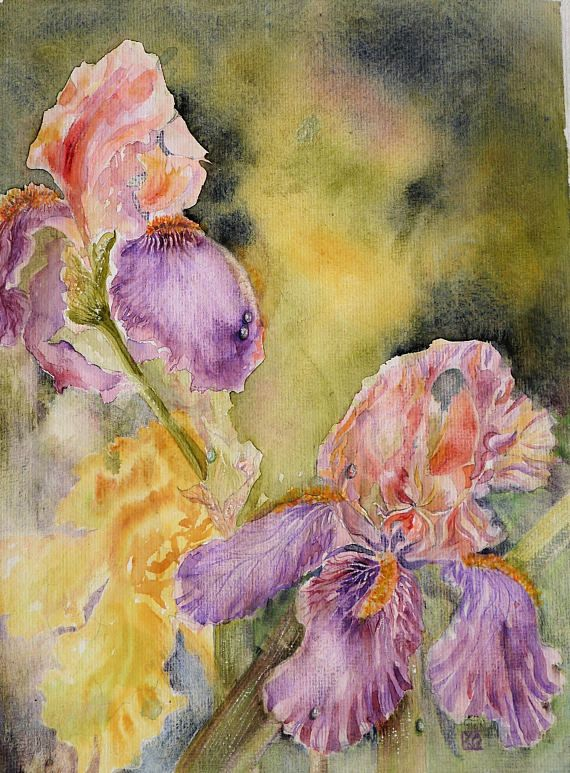 Painting Original Original Art Watercolor Flowers Original Art