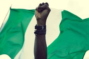 Nigerian Flag & fist - Africanstories