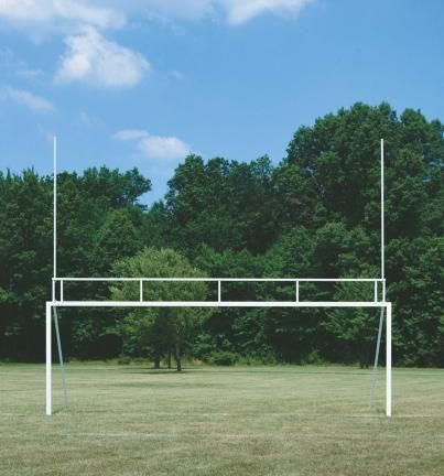 Stunning Steel Football Soccer Goal Post Combination Pair Official for both sports