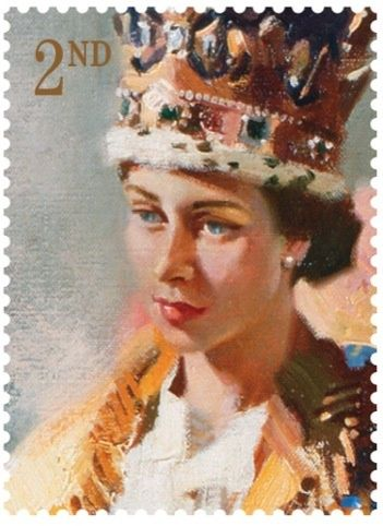 1953 Terence Cuneo  Royal Mail commissions portrait of the Queen for Coronation stamps