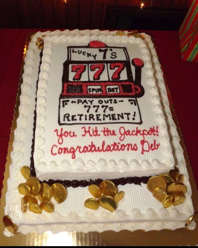 Retirement slot machine cake