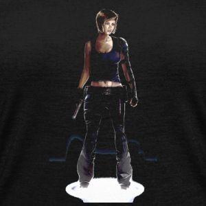 Ready For Action - Women's V-Neck Tri-Blend T-Shirt