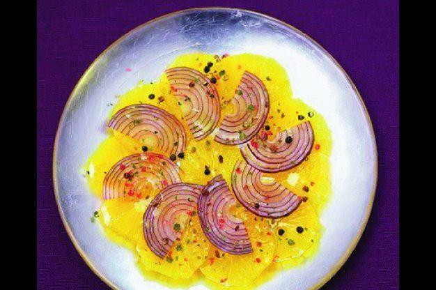 Sicilský pomerančový salát s pepřem a cibulí