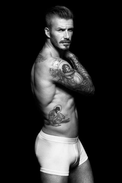 David Beckham in His Underwear For H