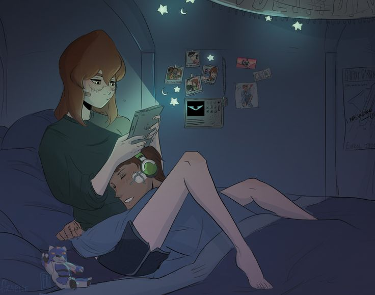 Trouble Sleeping?- Pidge and Lance in bed together from Voltron Legendary Defender