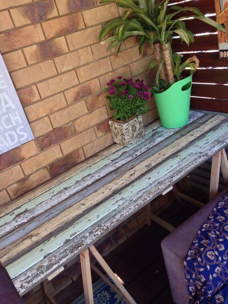 Weatherboard tabletop. Easy.