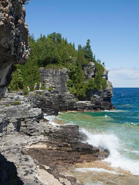 Bruce Trail, Bruce Peninsula, ON. (156km, 8-9days) You can put together your own multi-day itinerary for hiking the spectacular 156km section of the Bruce trail that runs through Bruce county itself. It's considered easier walking south to north, ending in Tobermory.