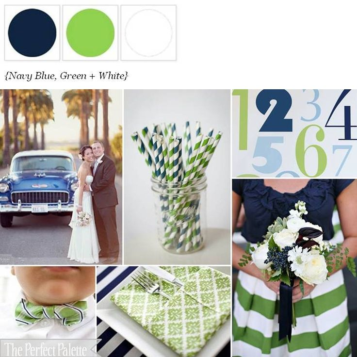 {A Striped Affair}: Navy, Green + White http://www.theperfectpalette.com/2012/06/striped-affair-shades-of-blue-green.html