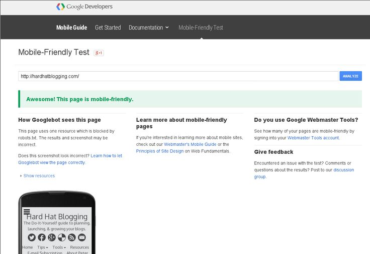 Does your website pass the Google mobile test? Read about the tool to verify your blog's mobile-friendliness.