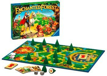 The perfect game for the prince or princess in your life. RAVENSBURGER Game Enchanted Forest. Charming strategy game with hidden treasures beneath each tree. Players search the forest for the treasure requested by the King of the Castle. Try to remember the location of other treasures along the way, as the King may ask for these later on. The first to correctly identify the location of 3 treasures wins the game. 2-6 players. AGE 4+ #toys2learn #familyfun #preschool #princessgame…