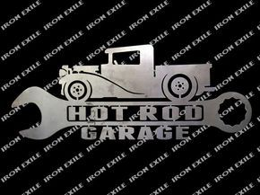 Hot Rod camion Garage métal Street Art signe Rat Rod par IronExile