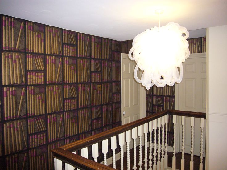 Statement Wallpaper at 38 St Giles B, Norwich by www.saltinteriors.co.uk