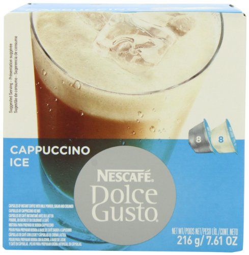 Nescafe Dolce Gusto for Nescafe Dolce Gusto Brewers, Cappuccino Ice, 16 Count (Pack of 3) - http://thecoffeepod.biz/nescafe-dolce-gusto-for-nescafe-dolce-gusto-brewers-cappuccino-ice-16-count-pack-of-3/