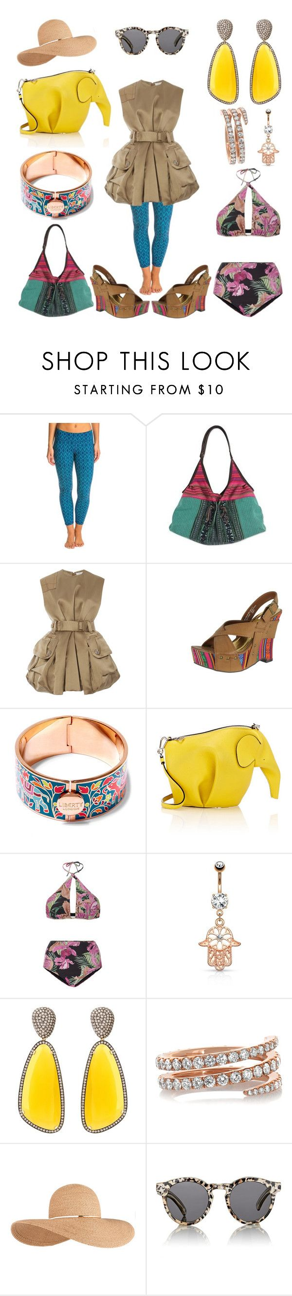 """""""Lampang, Thailand"""" by creation-gallery ❤ liked on Polyvore featuring prAna, NOVICA, Marc Jacobs, Not Rated, Liberty, Loewe, ADRIANA DEGREAS, Christina Debs, Anita Ko and Eugenia Kim"""