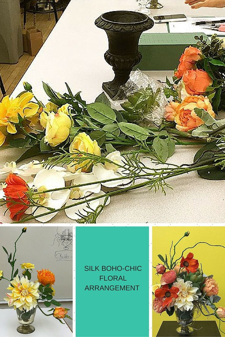 33 best silk flower tutorials images on pinterest silk flowers click to see how to create this beautiful boho chic silk flower arrangement dhlflorist Choice Image
