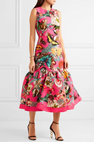 83ef6e65f54969 GABRIELLE'S AMAZING FANTASY CLOSET | Mary Katrantzou's 'Raven' Dress is  made from Bright Pink Cloqué printed with Seashells and Butterflies and  other fancy ...