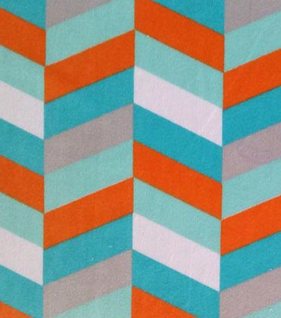 Soft N Comfy Fabric Chevron Turquoise Orange Baby Boy