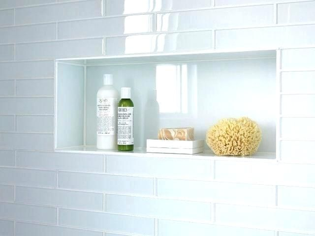Shower Clear Glass For Niche Subway Tile Around Tiles White Tiled