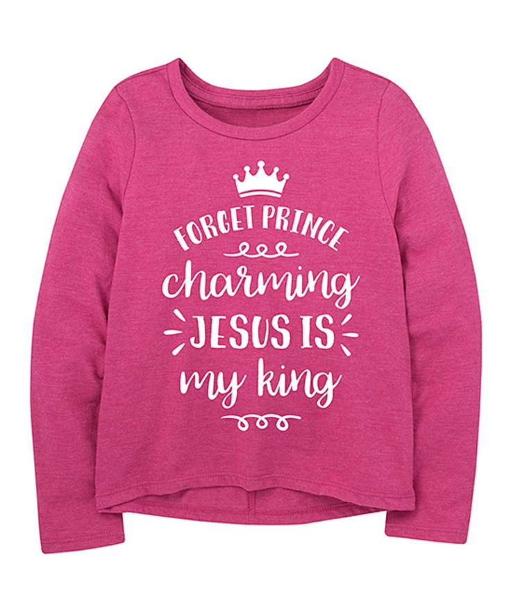 Take a look at this Fuchsia 'Prince' Long-Sleeve A-Line Tee - Toddler & Girls today!