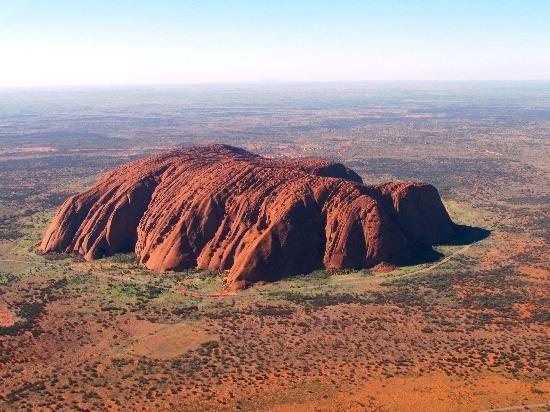 So beautiful from the air! Northern Territory, #Australia: Uluru