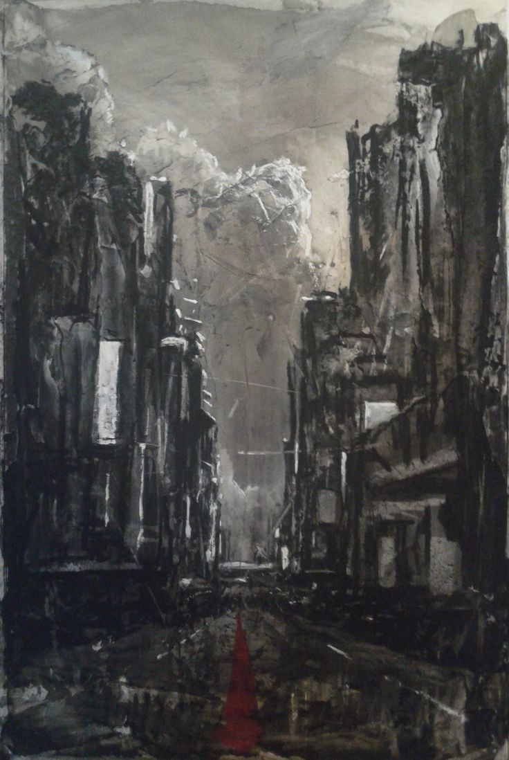 800mm x 500mm Charcoal, conté and acrylic on board 2015
