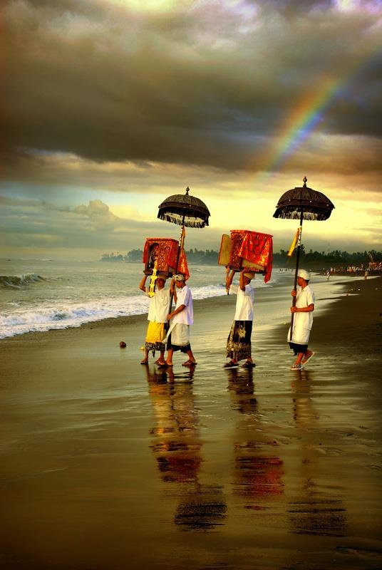 One of the daily Balinese rituals. Their religion and spirituality is intricately woven into their daily lives.