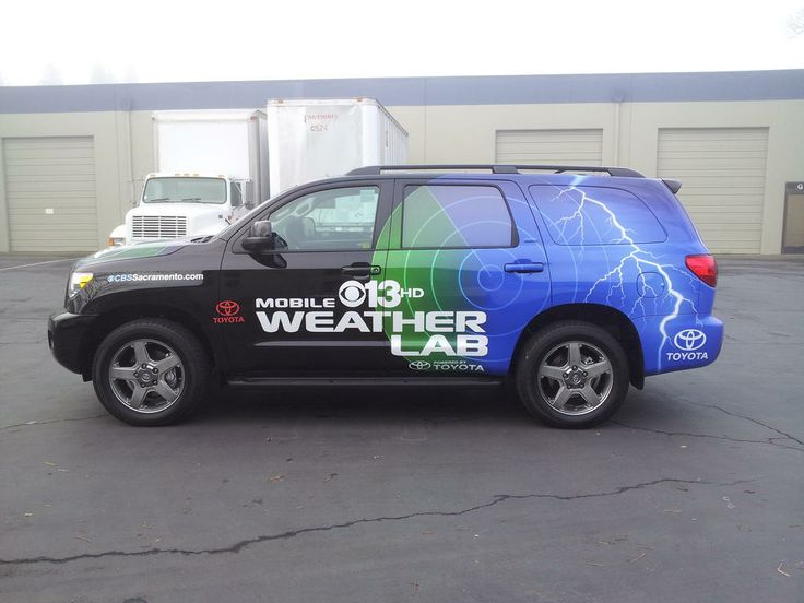 the weather lab vehicle for channel 13 news... check our their commercial and you will see our wrap. #prowraps