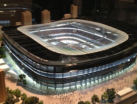 Maqueta 3 para la remodelación del estadio Santiago Bernabéu