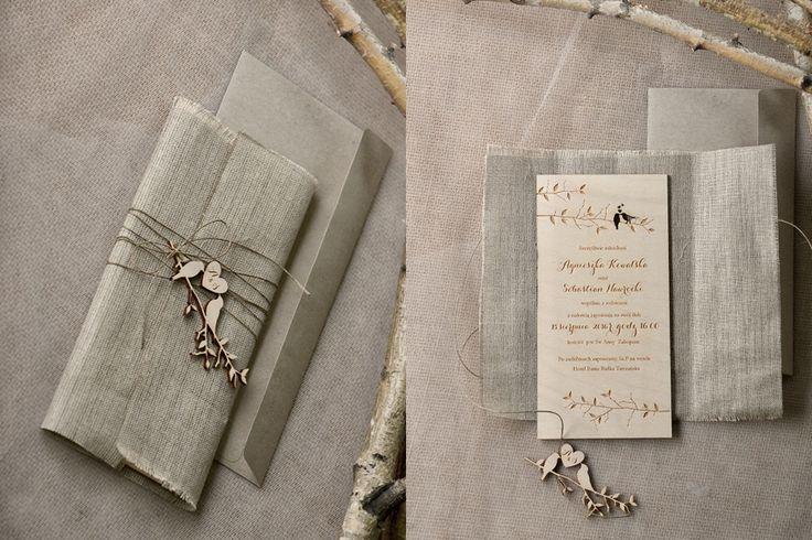 Zaproszenia na ślub w stylu rustykalnym •