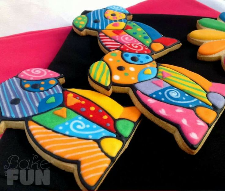 Multi Color Dog Cookies
