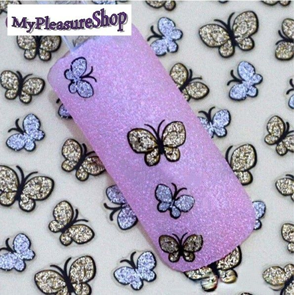 3D Butterfly Nail Art Shinning Stickers DIY Nail Sticker Nail Art Accessories by MyPleasureShop, $2.82 USD