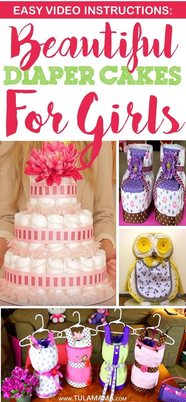 Easy Video Instructions Beautiful Diaper Cake Ideas For Baby