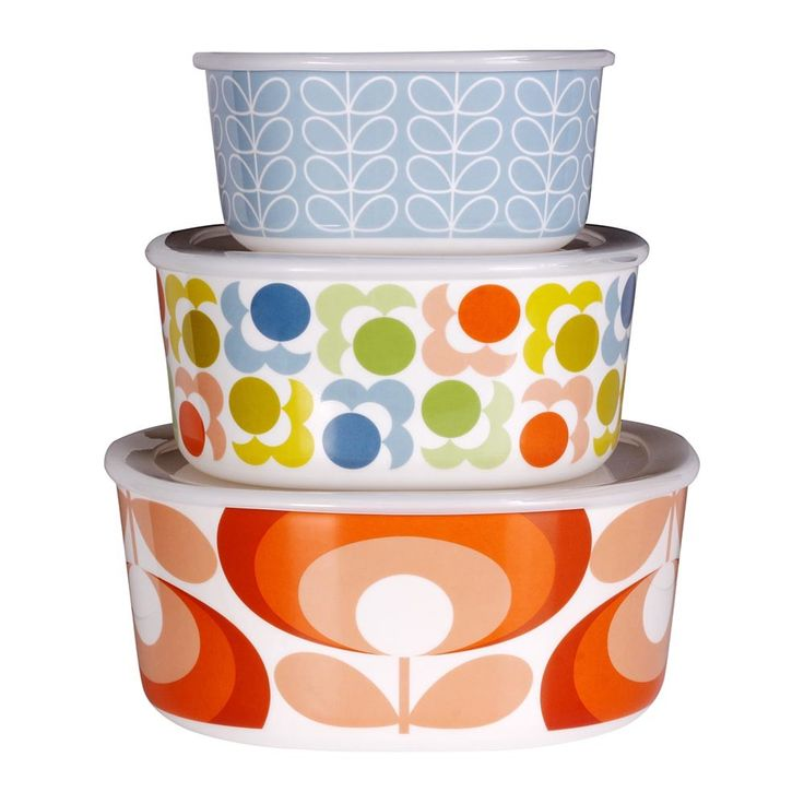 Buy Orla Kiely Multi Design Storage Bowls - Set of 3 | Amara