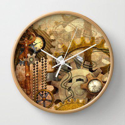 Captivating Amzing Stuff   Steampunk Wall Clock By Ancello