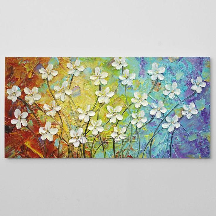 유화 액자 - 꽃그림