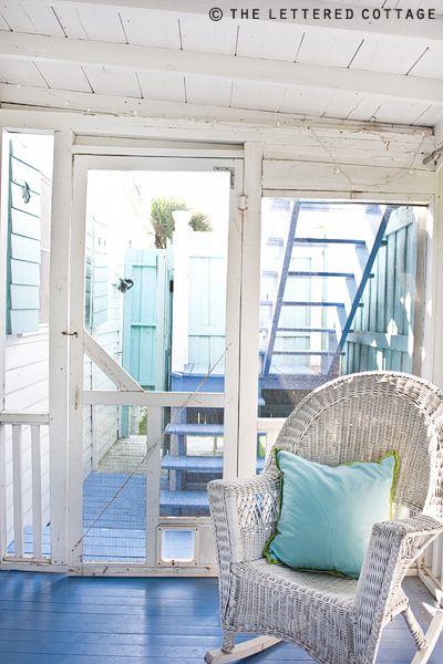 floor color!  cottage by the Sea  Jane Coslick Cottage color Beach House Blue
