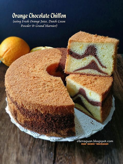 Chocolate Orange Chiffon Cake