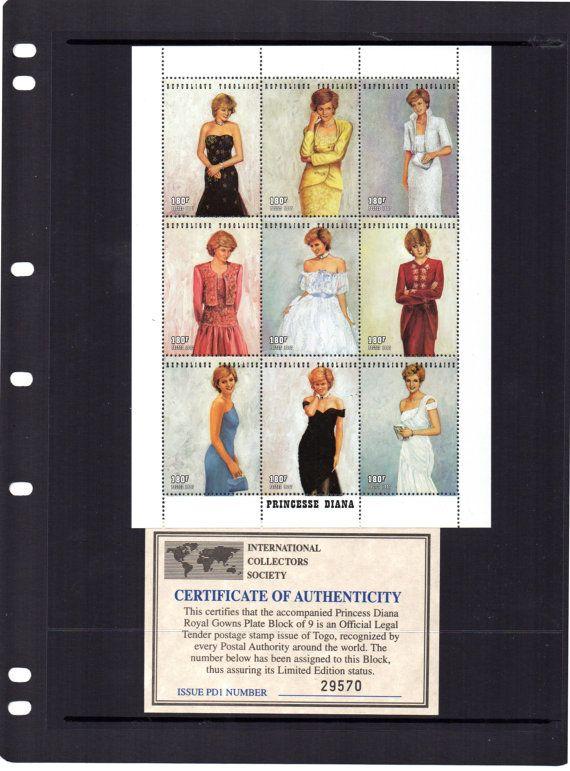Prinses Diana: Royal toga's plaat blok 9 door PerthCollectibles
